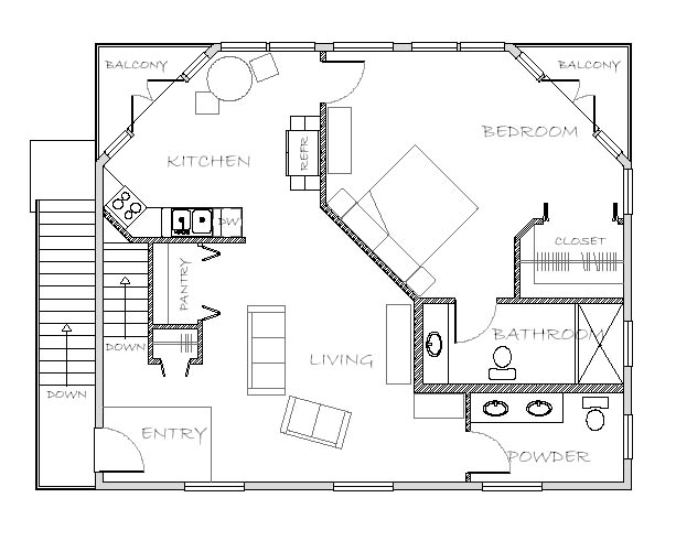 In Law Additions Floor Plans: Mother-in-law Apartment Plan