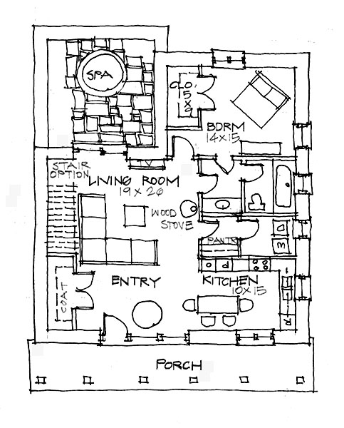 Santa fe iv plan for Santa fe house plans